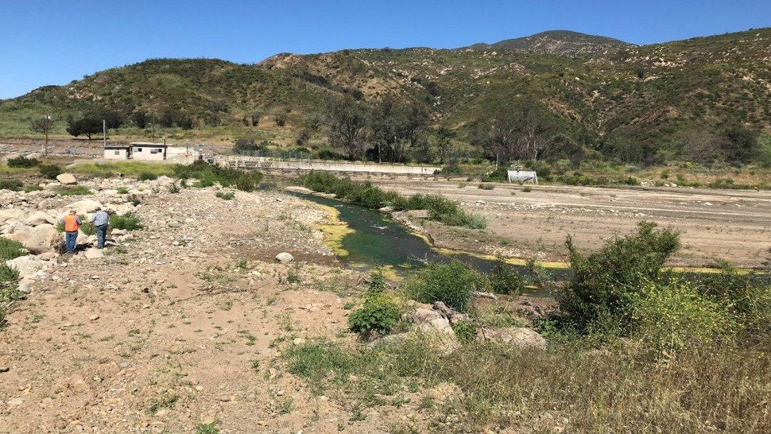 Casitas Forebay before with sediment buildup