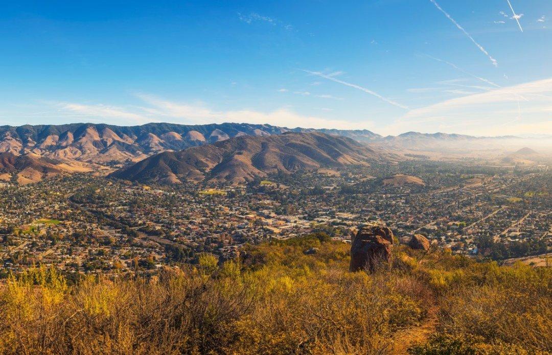 San Luis Obispo viewed from the Cerro Peak