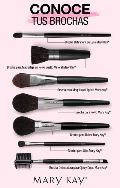 ¿Para qué sirve cada brocha de maquillaje?Colección brochas mary kay