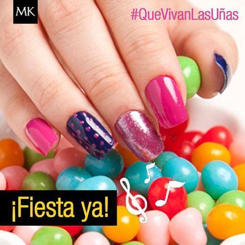 Diseños de uñas: mary kay nail art fiesta ya