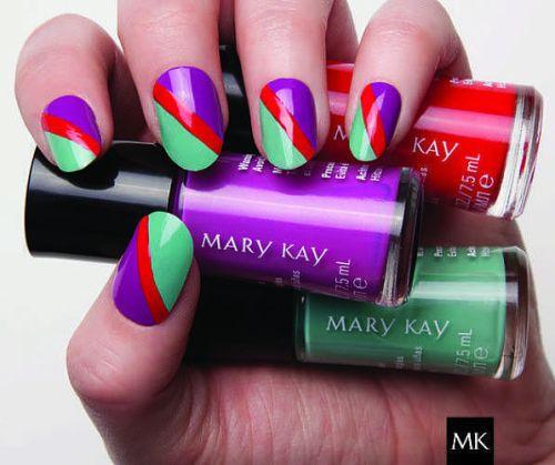 Diseños de uñas: nail art mary kay