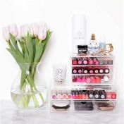 Ideas y productos para organizar tu ríncón de belleza: caja para cosméticos