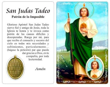 Estampita de San Judas Tadeo