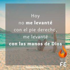Caminar con las manos de Dios