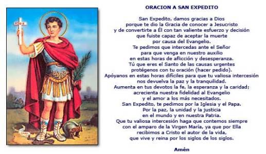Oraciones y frases a San Expedito