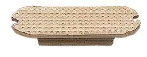 Taco estribo compacto (par) blanco 12 cm