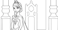 Elsa princesa Frozen colorear - Rincon Util