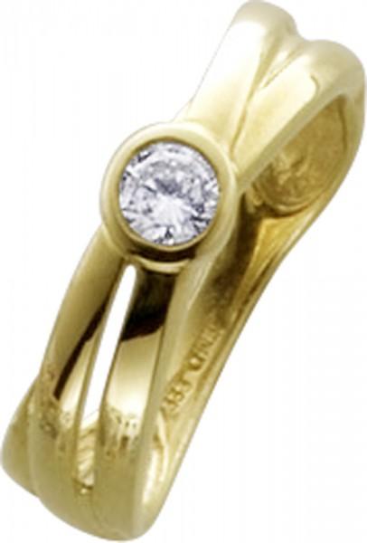 Zirkoniaring Gold Goldring mit Zirkonia Stein