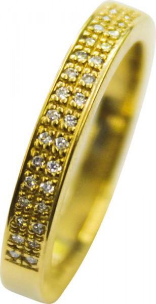 Goldring mit Brillant  Brillantring 01 ct  05 ct 1 Karat