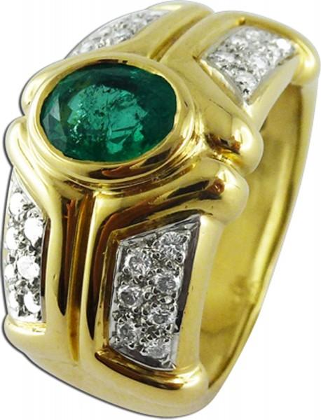 Goldring mit Smaragd Smaragdringe  grner Edelstein