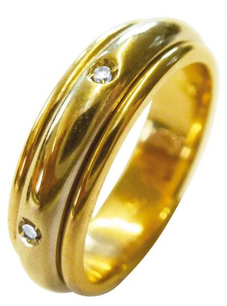 Goldringe mit Diamant  Diamantring