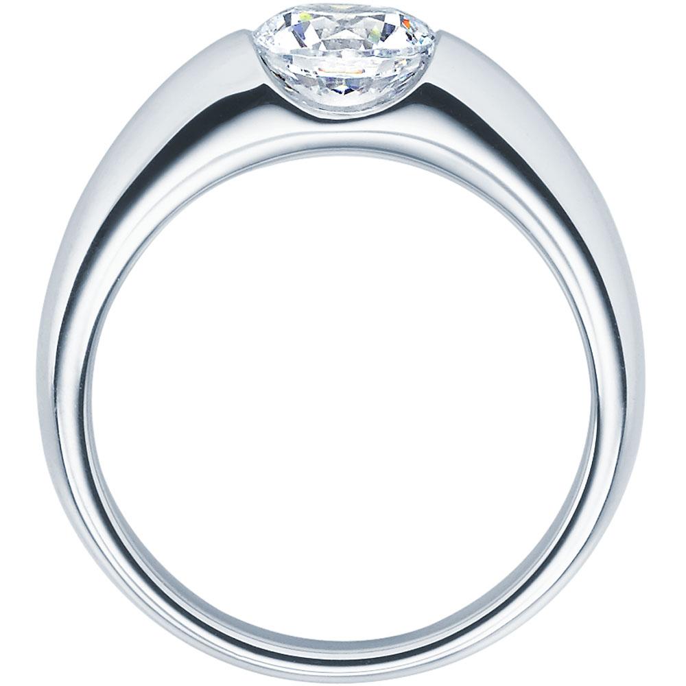 Verlobungsring 9918003 in Spannringoptik aus Platin mit 0