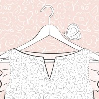 Coloriage mode robe motif floral