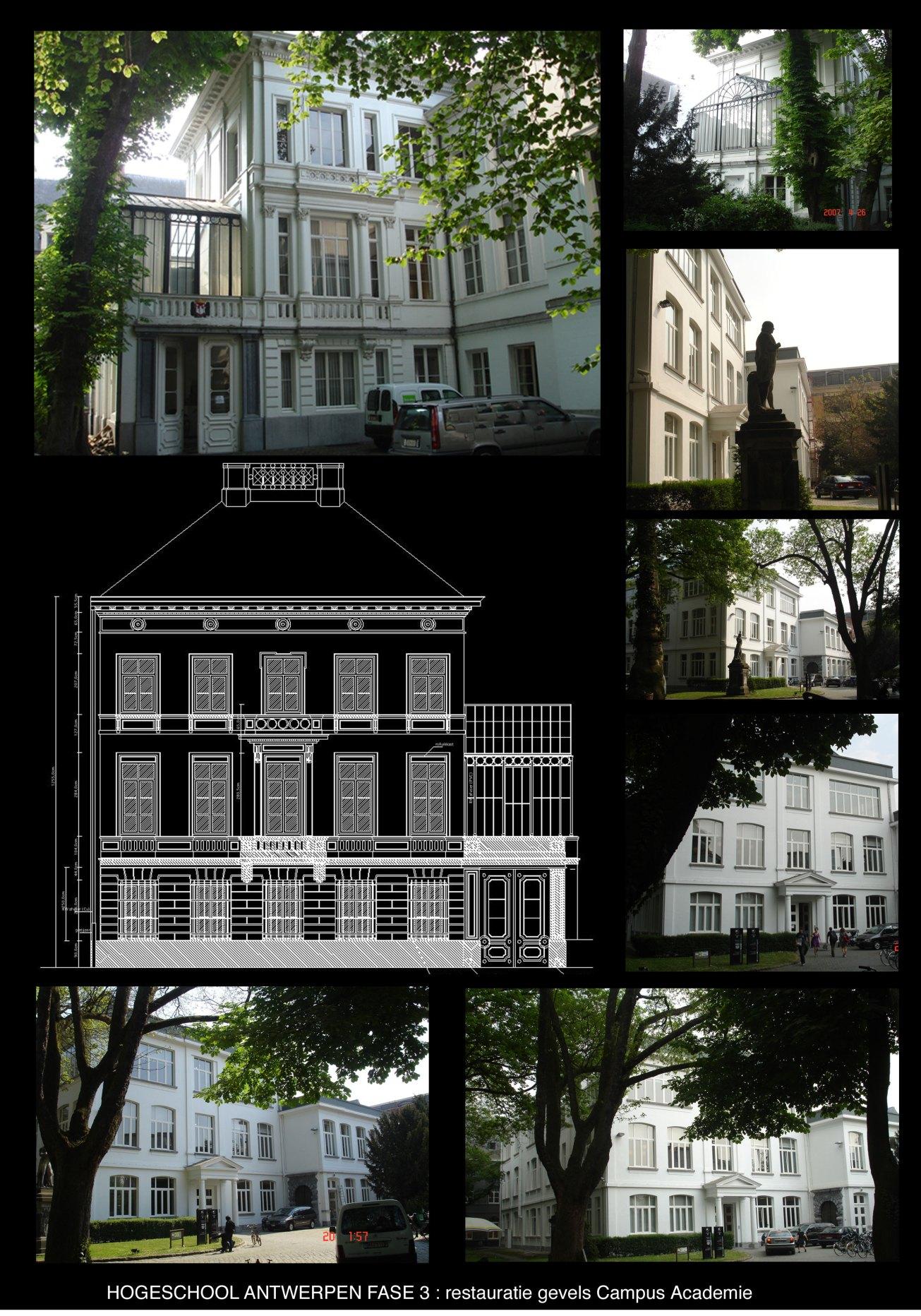 Hogeschool Antwerpen fase3 restauratie gevels