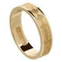 Celtic Cross Yellow Gold Wedding Ring - Celtic Wedding ...