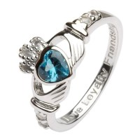 December Birthstone Claddagh Ring - Claddagh Rings - Rings ...