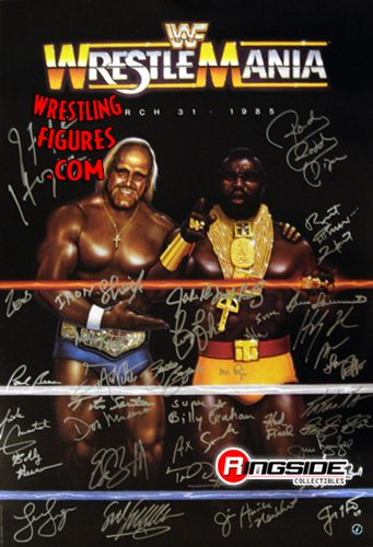 cool chairs for girls herman miller wrestlemania poster - autographed by 35 wwe legends! | ringside collectibles