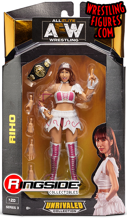 Riho Aew Unrivaled 3 Toy Wrestling Action Figure By Wicked Cool Toys