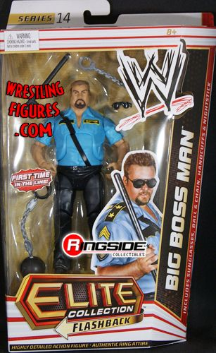 wheelchair man back support for chair big boss - wwe elite 14 | ringside collectibles