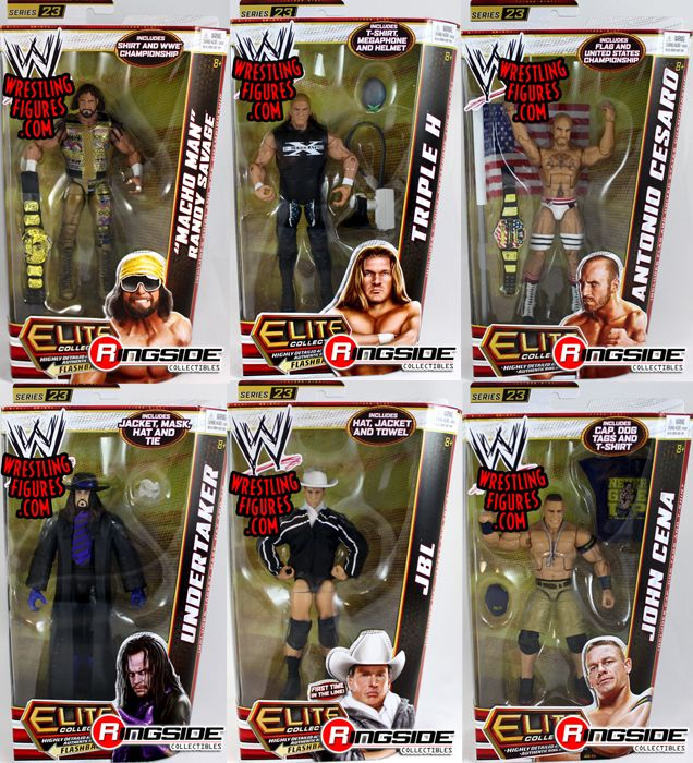 WWE Elite 23  Complete Set of 6  Ringside Collectibles