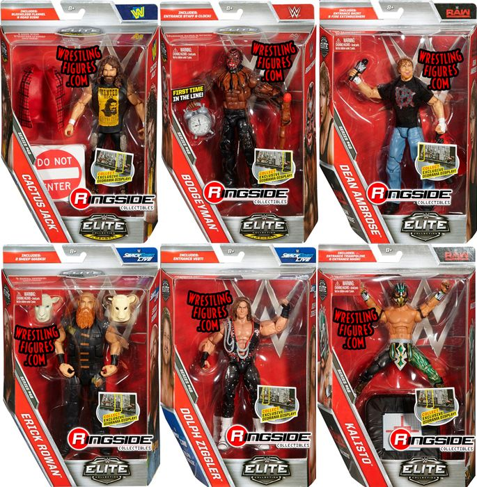 WWE Elite 48 Toy Wrestling Action Figures by Mattel This
