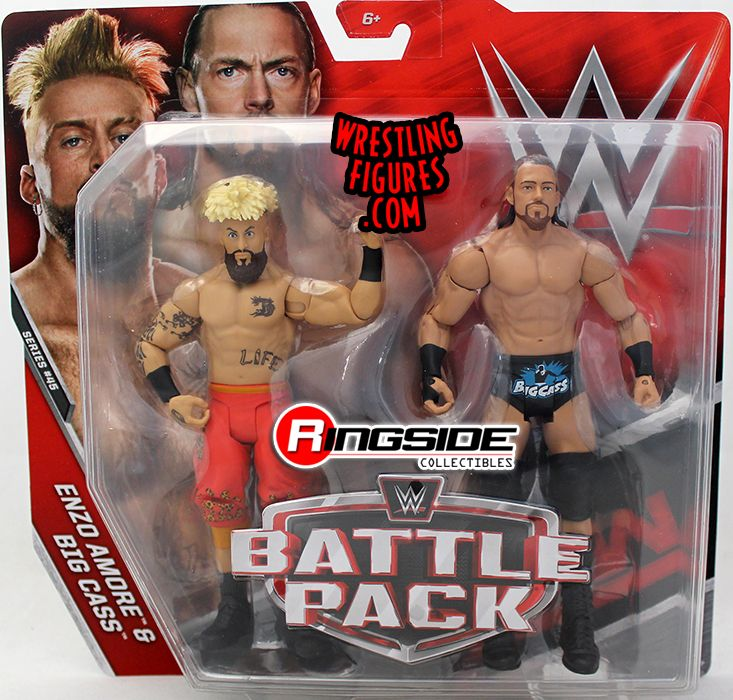 big folding chairs brown leather swivel chair with footstool enzo amore & cass - wwe battle packs 45 toy wrestling action figures by mattel!