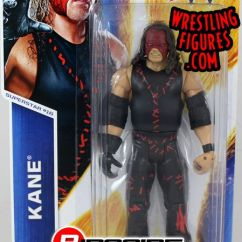 Retro Tables And Chairs White Faux Leather Dining Kane - Wwe Series 47 Toy Wrestling Action Figure By Mattel