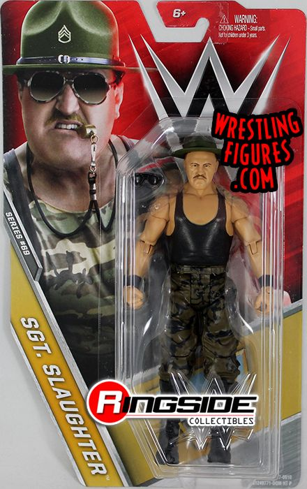 Sgt Slaughter  WWE Series 69 WWE Toy Wrestling Action