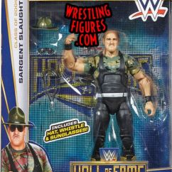Retro Tables And Chairs Slat Back Chair Sgt. Slaughter - Wwe Hall Of Fame 2014 Toy Wrestling Action Figure By Mattel