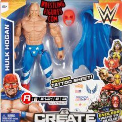 Walmart Folding Chairs Ergonomic Chair Justification Hulk Hogan - Wwe Create-a-superstar (small Pack) Toy Wrestling Action Figure By Mattel