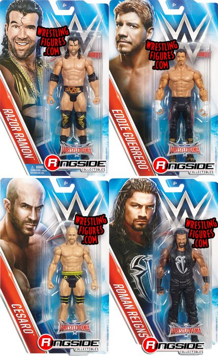 WWE Series WrestleMania 32  Complete Set of 4 WWE Toy