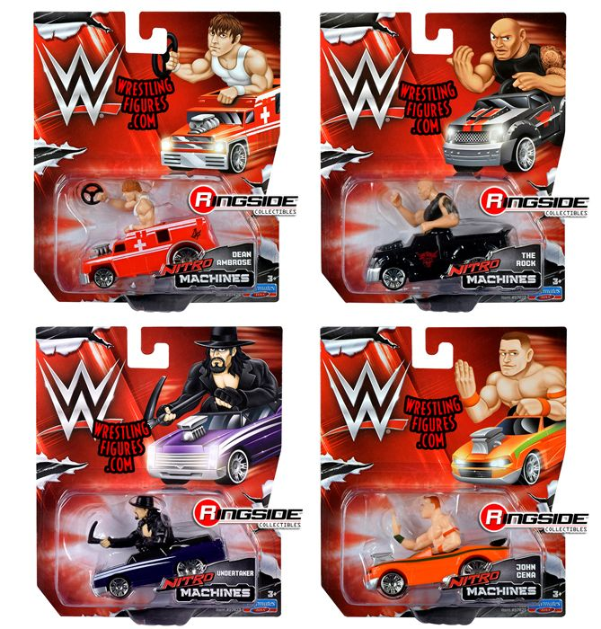 WE Nitro Machines  Complete Set of 4 WWE Toy Wrestling