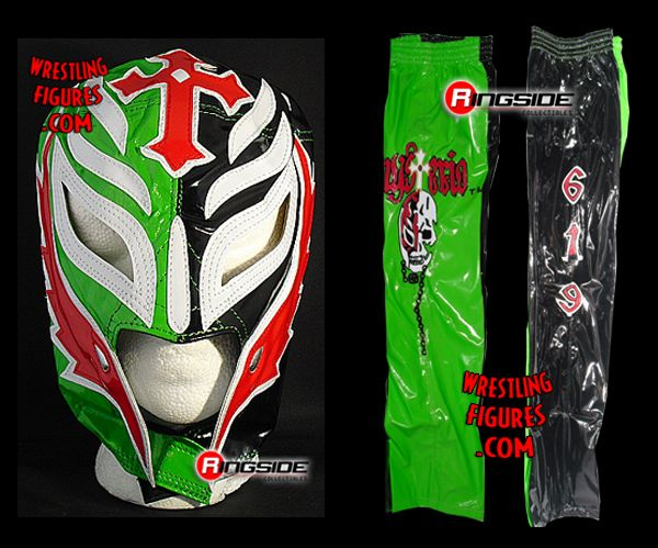 Rey Mysterio  Green  Black Kids Size Mask  Pants