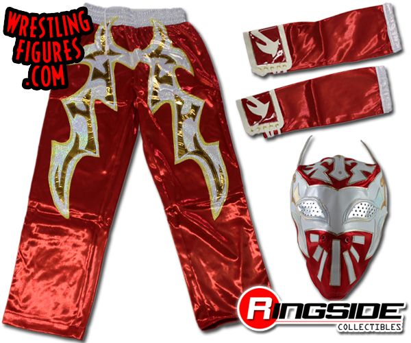 Sin Cara  Red Combo Kids Size Replica Mask Armbands