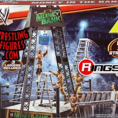 Wrestling Chairs For Sale Sure Fit Chair Cover Wwe Money In The Bank Playset W/ Dolph Ziggler Figure | Ringside Collectibles