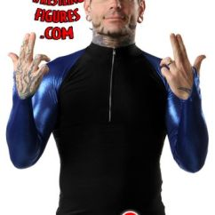 Pop Up Chairs Baby Chair Swinging Model No Ts Bs 16 Jeff Hardy - Spandex Zip-up (blue Sleeves) Tna T-shirt | Ringside Collectibles