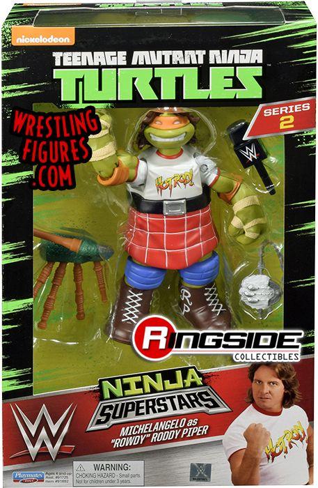 Michelangelo Mikey as Rowdy Roddy Piper  TMNT  WWE