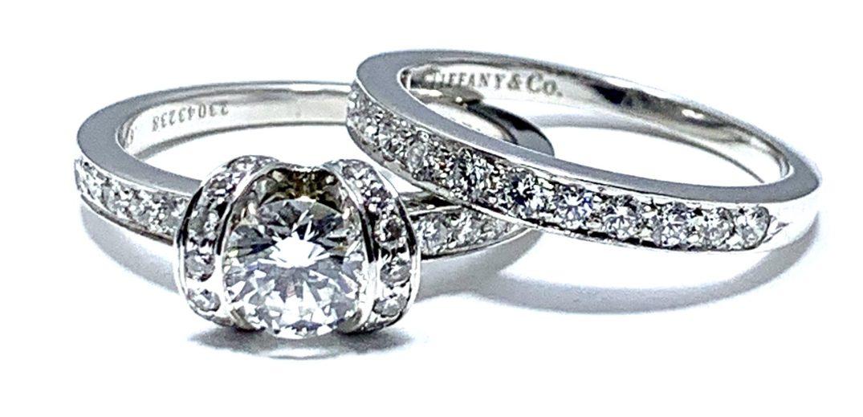кольцо из платины и бриллиантов Tiffany