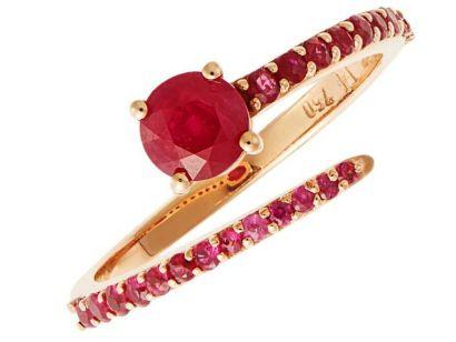 Grass seed ring кольцо с рубинами