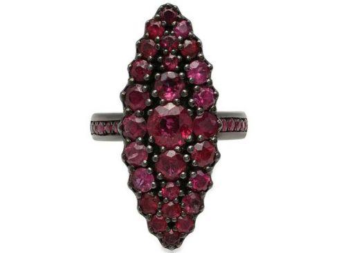 Jeanne D'arc marquise кольцо с рубином