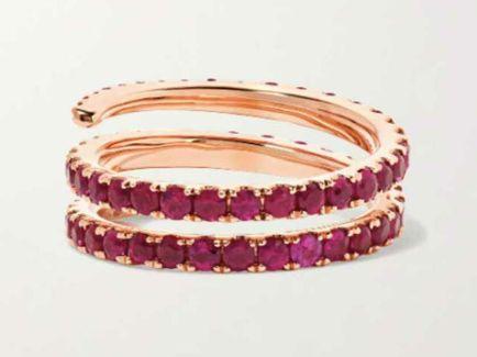 Coil ruby ring кольцо с рубинами