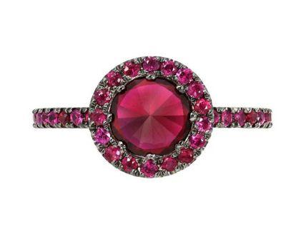 sugar stud ruby кольцо с рубинами