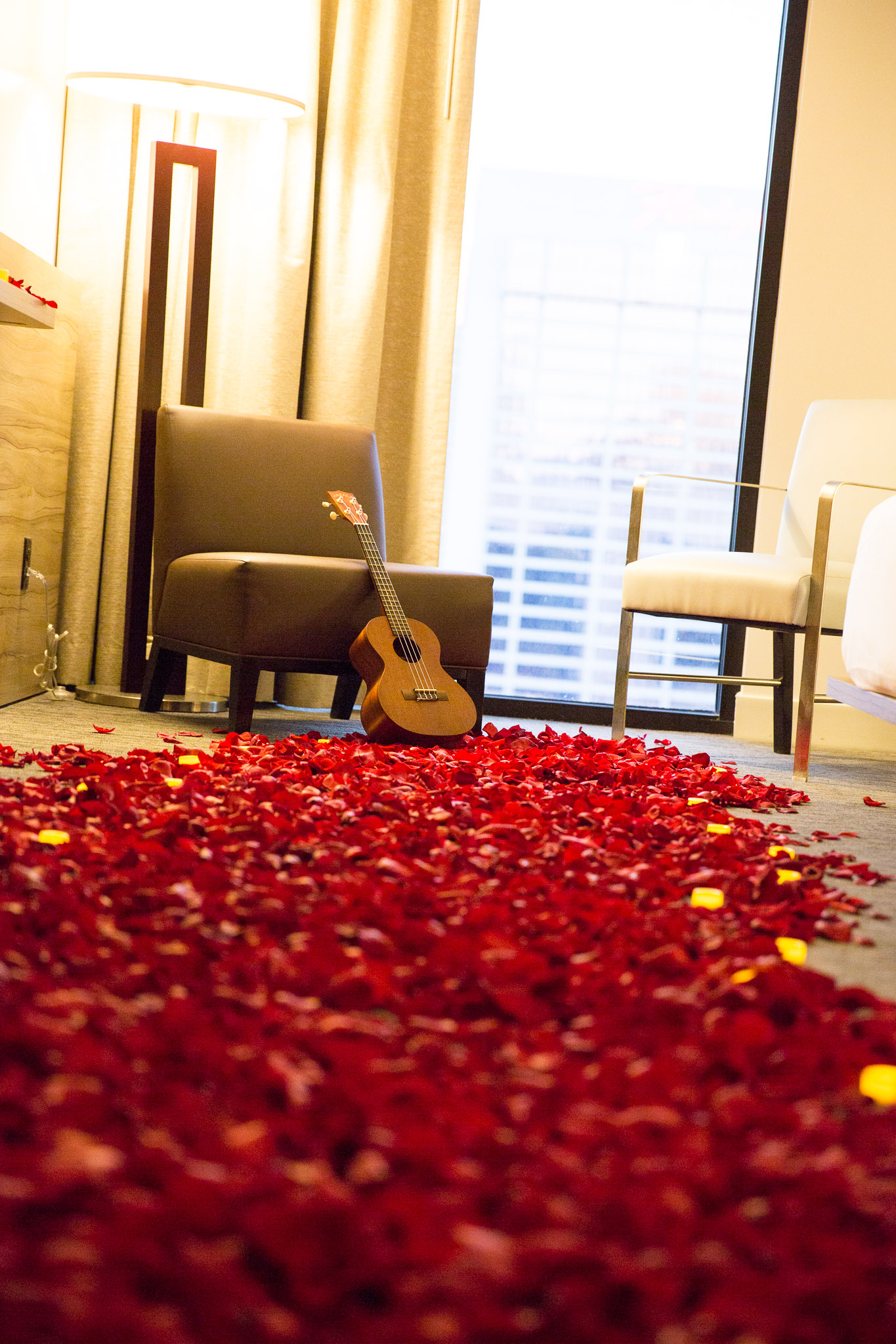 Romantic Room Marriage Proposal In Las Vegas With Ring