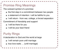 Promise rings/quotes on Pinterest