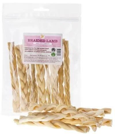 Ringwood Dogs Dog Treats & Chews: jr Braided Lamb Sticks