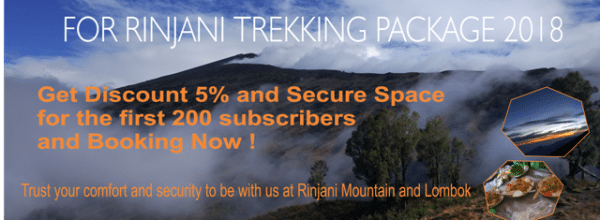 Open Booking For Trekking Rinjani 2018