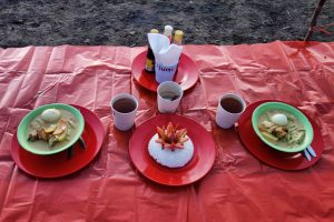 Dinner Menu of Rinjani Trekking