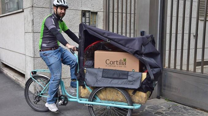 Cortilia e PonyZero, la spesa a domicilio a impatto zero