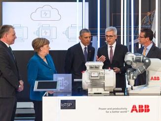 Obama e Merkel, la tecnologia digitale di ABB alla Fiera di Hannover