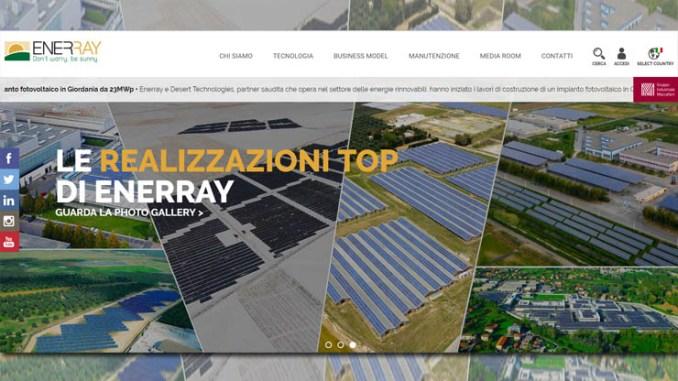 Enerray rinnova il portale web e rilancia le attività di O&M